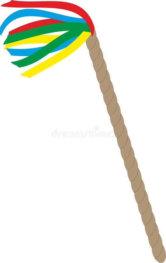 Chicote da Páscoa com as fitas coloridas isoladas no fundo branco ilustração royalty free