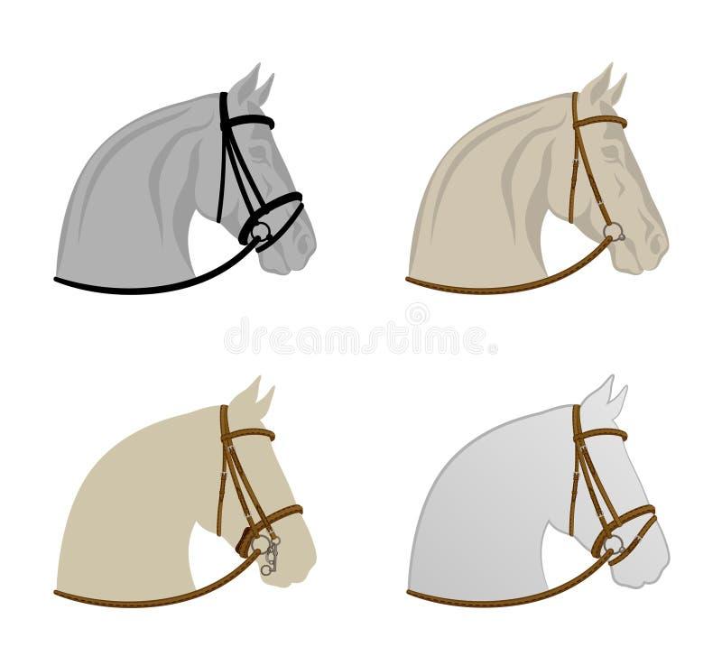 Chicote de fios do cavalo ilustração stock