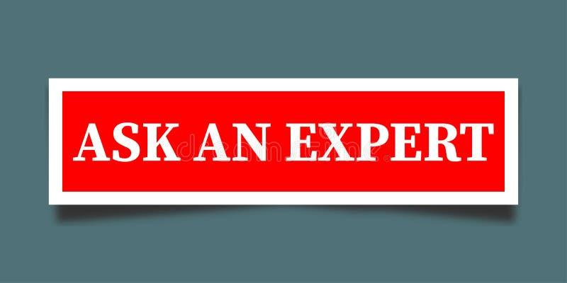 Chieda ad un esperto illustrazione di stock