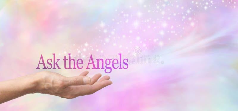 Chieda gli angeli aiuto fotografia stock libera da diritti