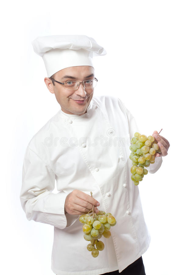 Download Chief cook and white grape stock image. Image of isolated - 23361177