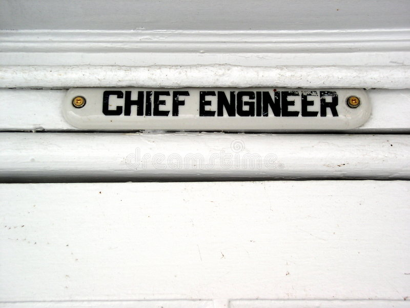 Download Chief Engineer of ship stock photo. Image of chief, blueprints - 16638