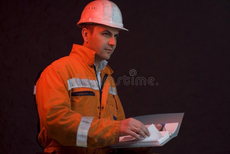 Chief miner checking the progress royalty free stock photos