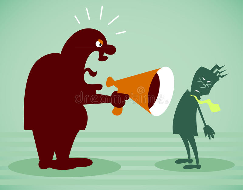 Download Chief Shouts At The Subordinate Stock Vector - Image: 29326650