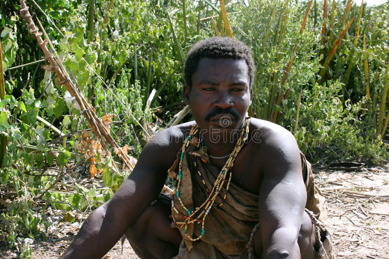 chieftain hadzabe Τανζανία της Αφρικής στοκ εικόνα με δικαίωμα ελεύθερης χρήσης