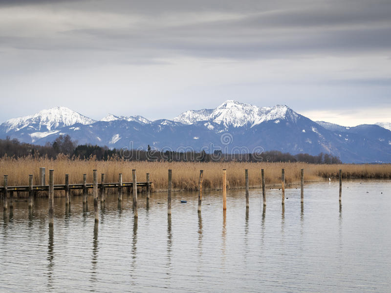 Chiemsee jetty stock photography