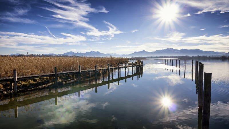 Chiemsee jezioro obrazy stock