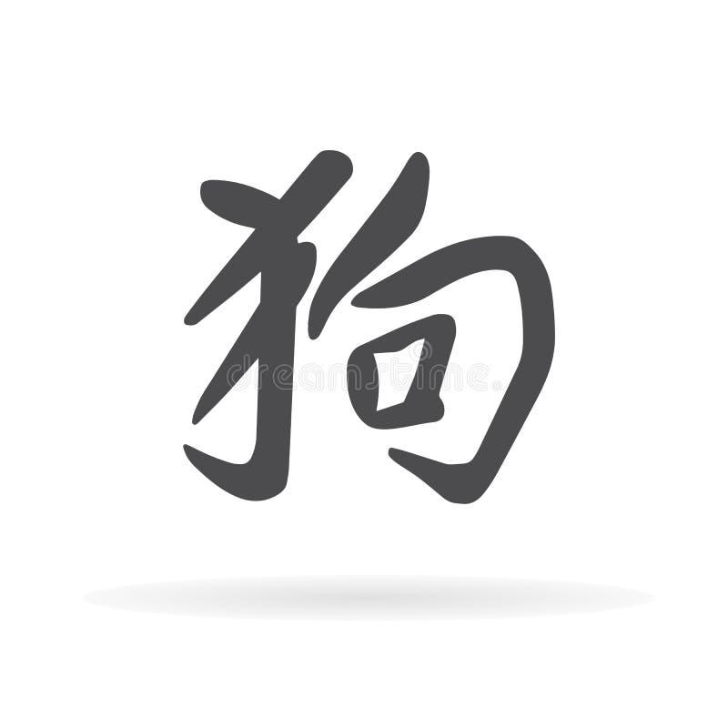 Chien de caractère chinois illustration libre de droits