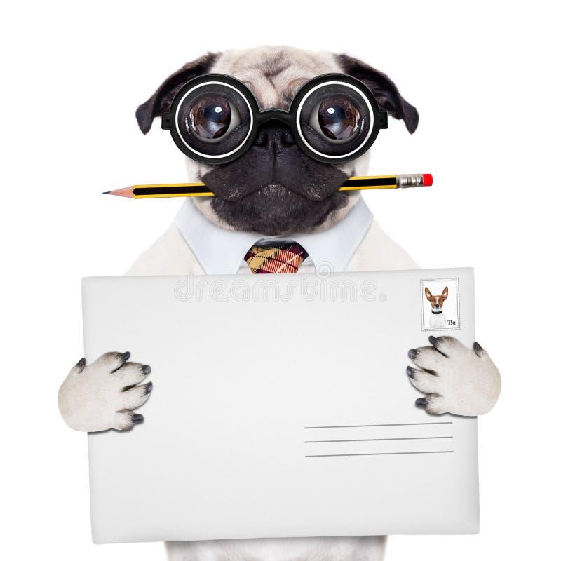 Chien de courrier de distribution du courrier images libres de droits