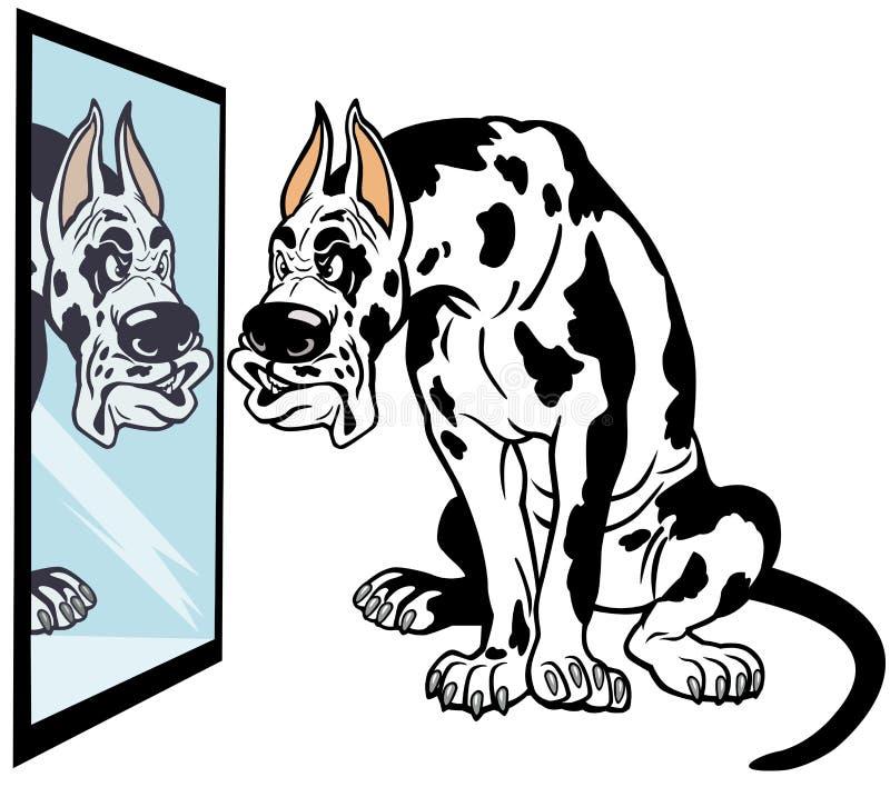 Chien de great dane de bande dessinée illustration stock