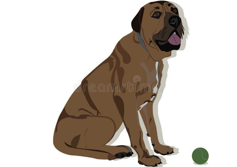 Chien de mastiff illustration de vecteur