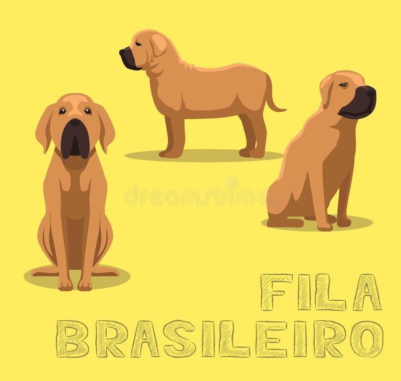 Chien Fila Brasileiro Cartoon Vector Illustration illustration stock