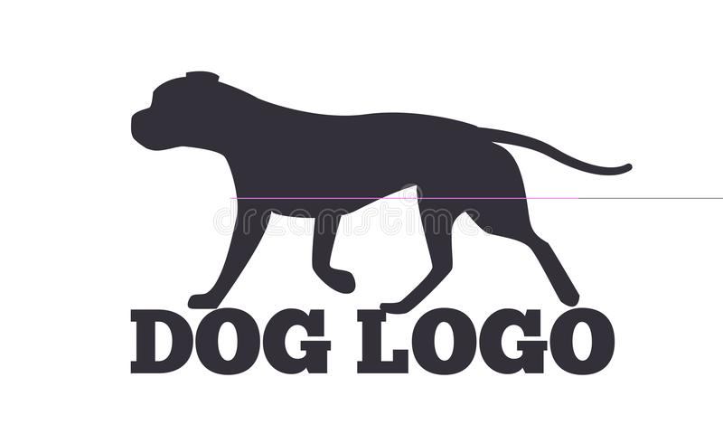 Chien Logo Design Canine Animals Silhouettes illustration stock