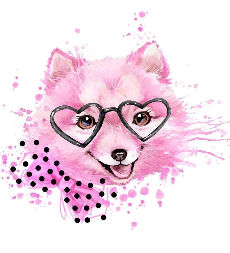 Chien mignon Graphiques de T-shirt de chien illustration libre de droits
