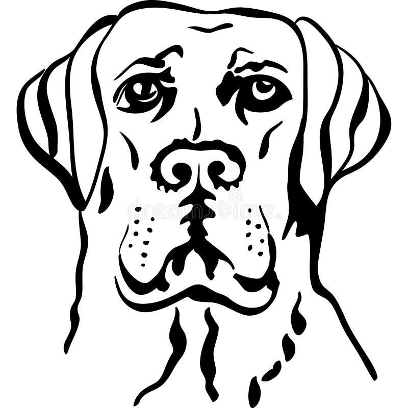 Chiens d'arrêt de Labrador de race de crabot de croquis illustration libre de droits