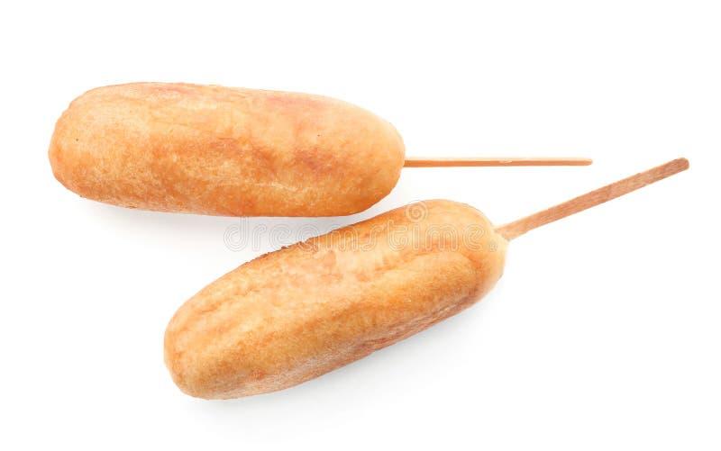 Chiens de maïs savoureux image stock