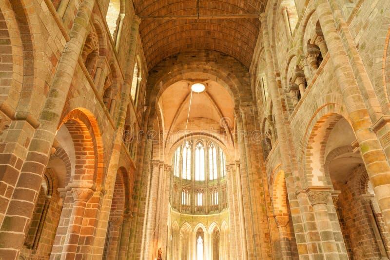 Chiesa-abbazia interna del Saint Michel di SMont fotografia stock