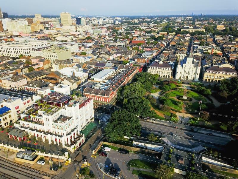 Chiesa aerea di Jackson Square Saint Louis Cathedral in nuovo Orlean fotografia stock
