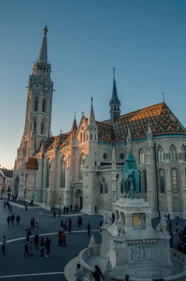 Chiesa al bastione del pescatore, Budapest, Ungheria di Matthias immagini stock libere da diritti