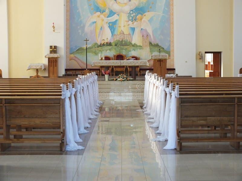 Chiesa all'interno fotografia stock