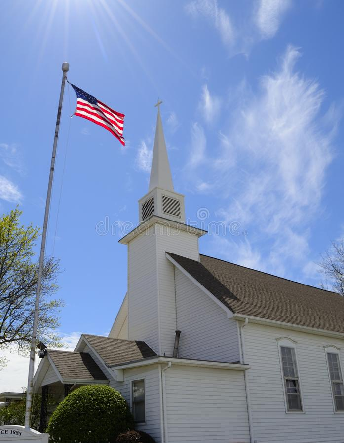 Chiesa americana fotografia stock libera da diritti