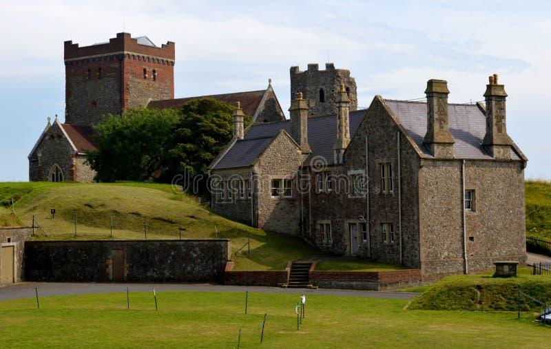 Chiesa angla di Saxon a Dover Castle fotografia stock