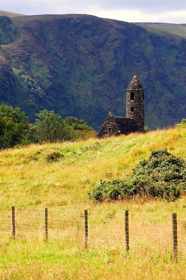 Chiesa antica della st Kevin fotografia stock