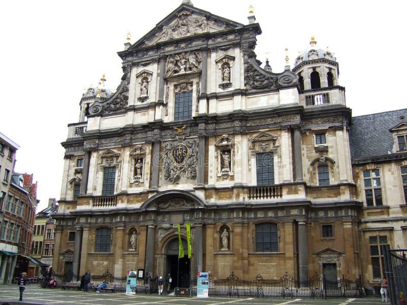 Chiesa Anversa Belgio della st Carolus Borromeuschurch fotografie stock libere da diritti
