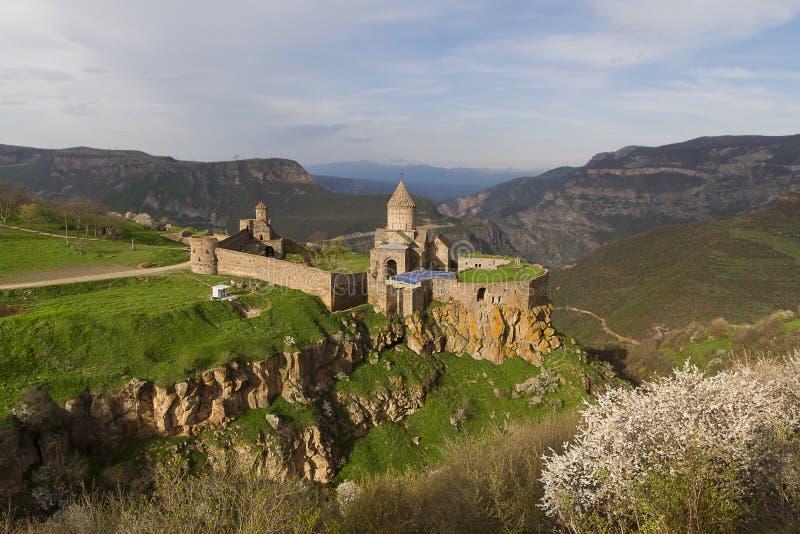 Chiesa apostolica armena e monastero di Tatev nella provincia di Syunik dell'Armenia fotografia stock libera da diritti
