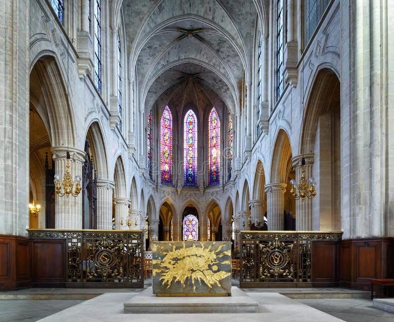 Chiesa atholic del ¡ di Ð di St Germain di Auxerre a Parigi, Francia fotografia stock