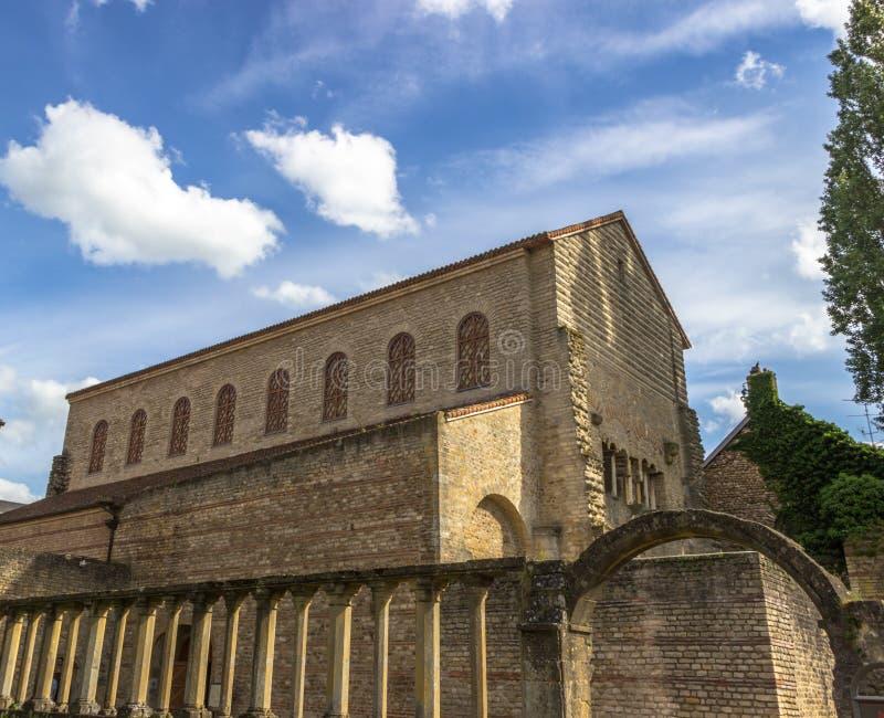 Chiesa aus. di Nonnains del Saint Pierre, Metz, Lorena in Francia immagine stock libera da diritti