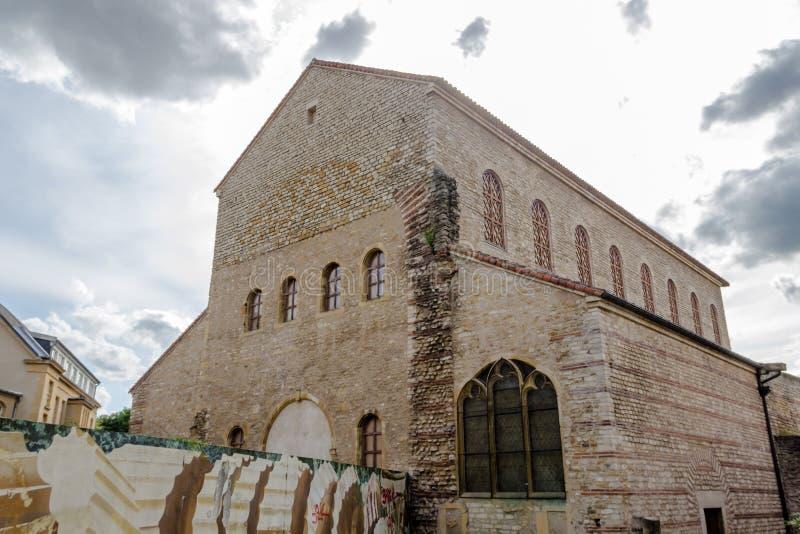 Chiesa aus. di Nonnains del Saint Pierre, Metz, Lorena in Francia immagini stock