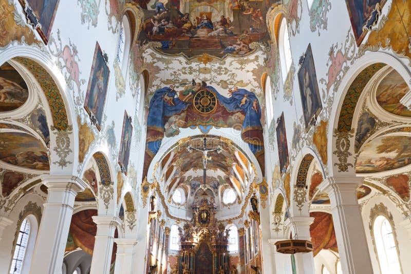 Chiesa barrocco in Biberach, Germania immagine stock