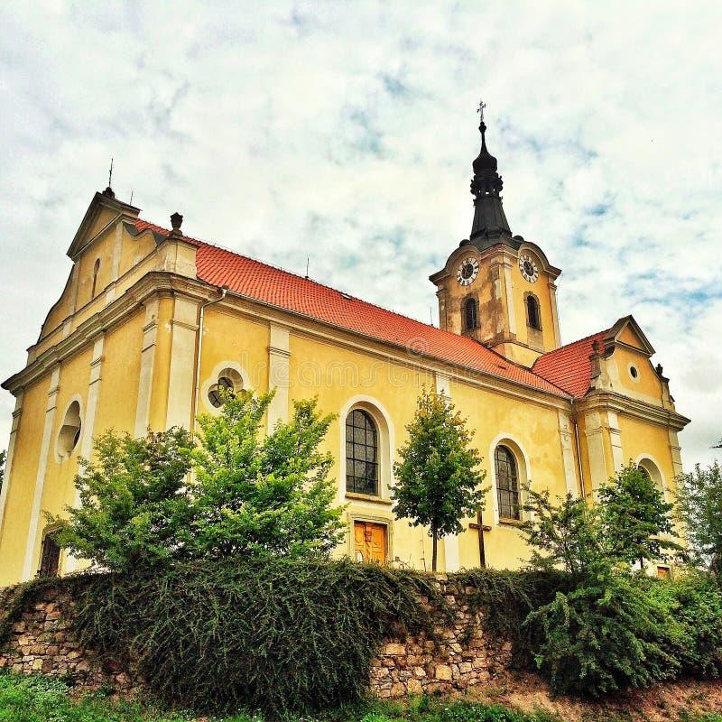 Chiesa barrocco in repubblica Ceca fotografie stock