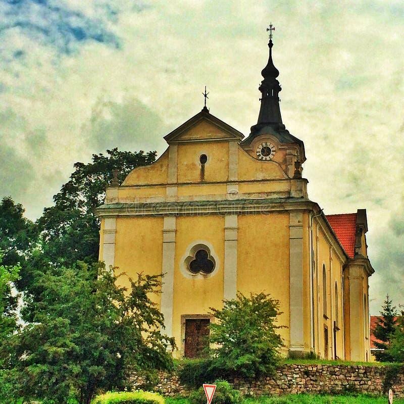 Chiesa barrocco in repubblica Ceca in Europa orientale fotografia stock