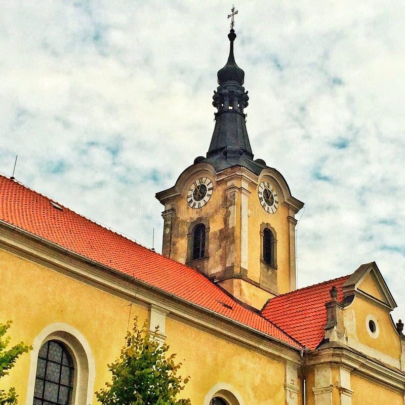 Chiesa barrocco in repubblica Ceca in Europa orientale immagine stock