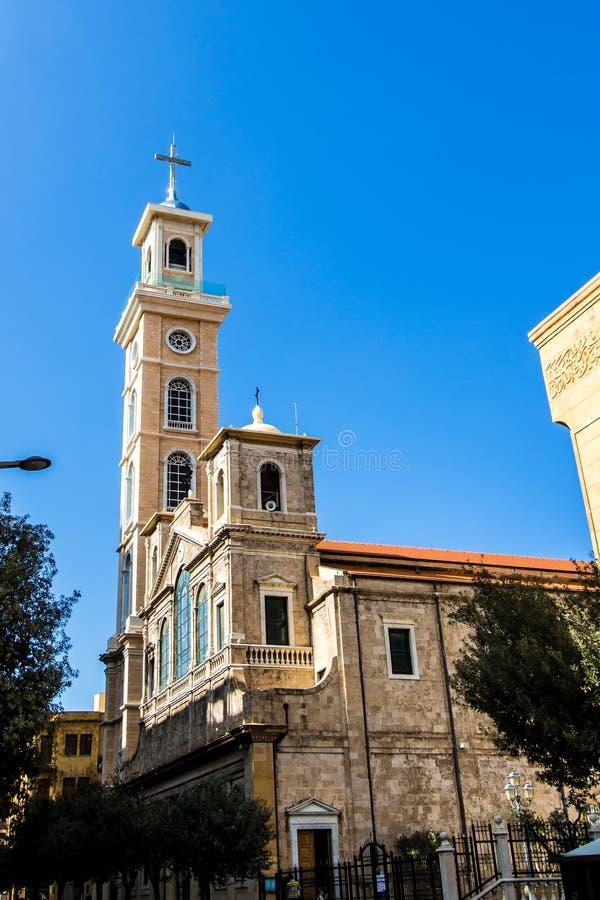 Chiesa a Beirut, Libano fotografia stock libera da diritti