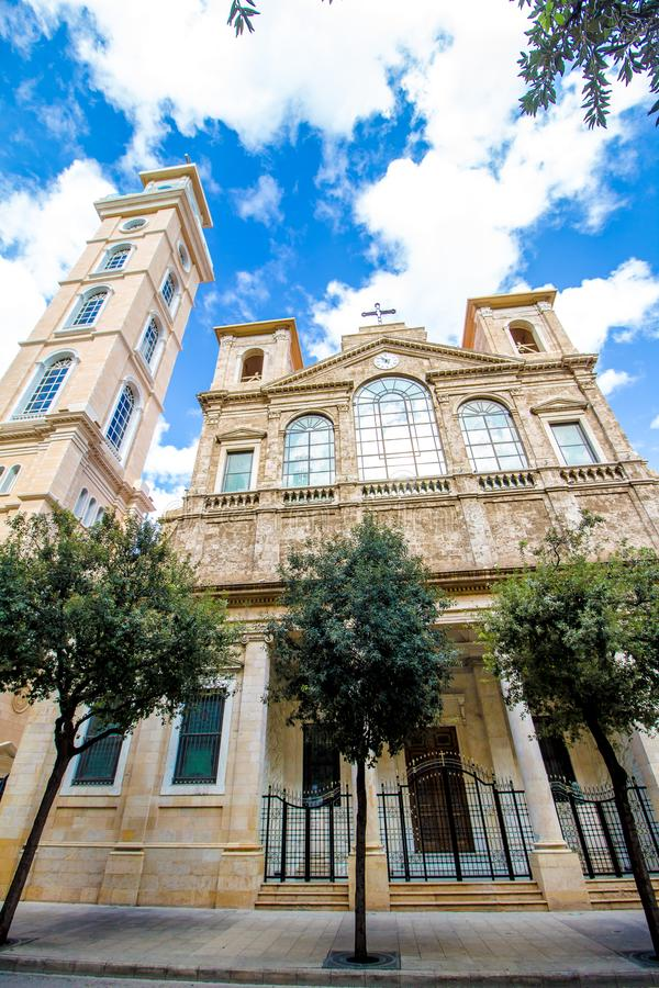 Chiesa a Beirut, Libano immagine stock