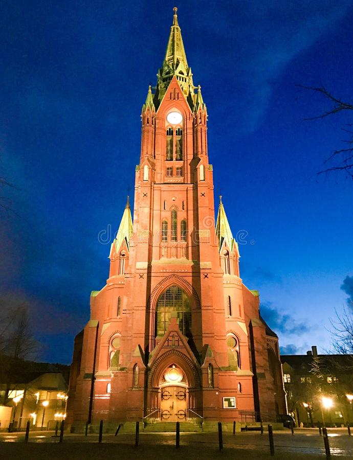 Chiesa Bergen Norvegia fotografie stock