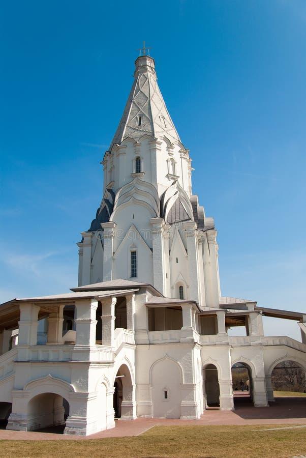 Chiesa bianca a Mosca fotografie stock libere da diritti