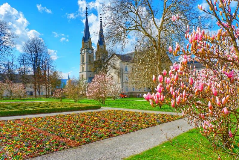 Chiesa Bibliothek Admont Austria del santuario immagine stock