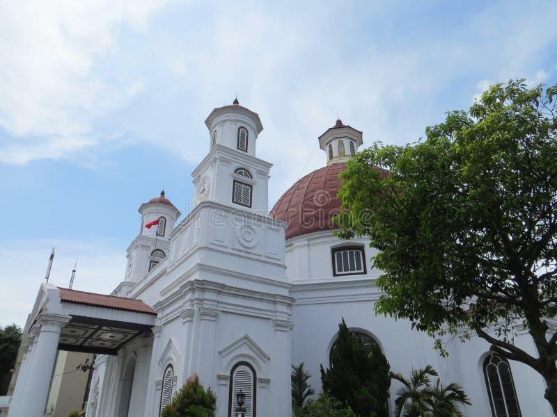 Chiesa Blenduk a Samarang immagine stock
