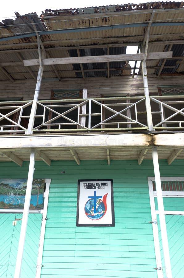 Chiesa in Bocas Del Toro, Panama fotografia stock
