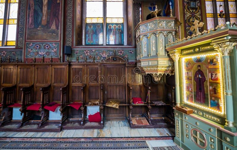 Chiesa in Brasov immagini stock libere da diritti