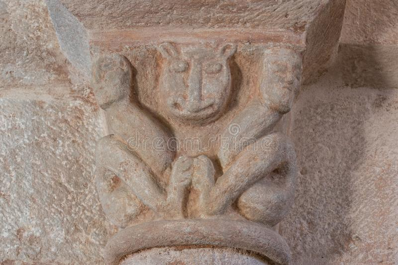 Chiesa capitale in Gourdon Francia fotografie stock libere da diritti