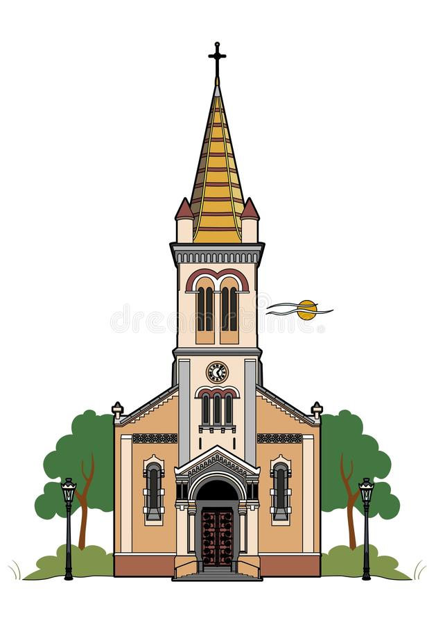 Chiesa cattolica illustrazione vettoriale