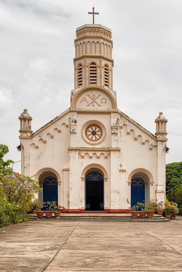 Chiesa cattolica del ` s di St Teresa in Savannakhet, Laos immagini stock libere da diritti