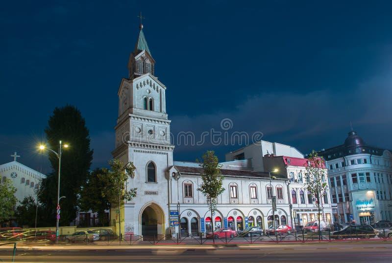 Chiesa cattolica di Baratia a Bucarest fotografia stock