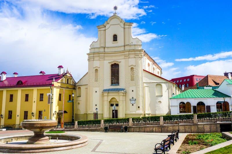 Chiesa cattolica di Minsk fotografie stock libere da diritti