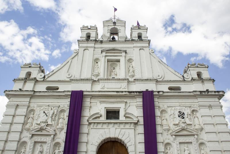 Chiesa cattolica di Rabinal Baja Verapaz, Guatemala fotografia stock